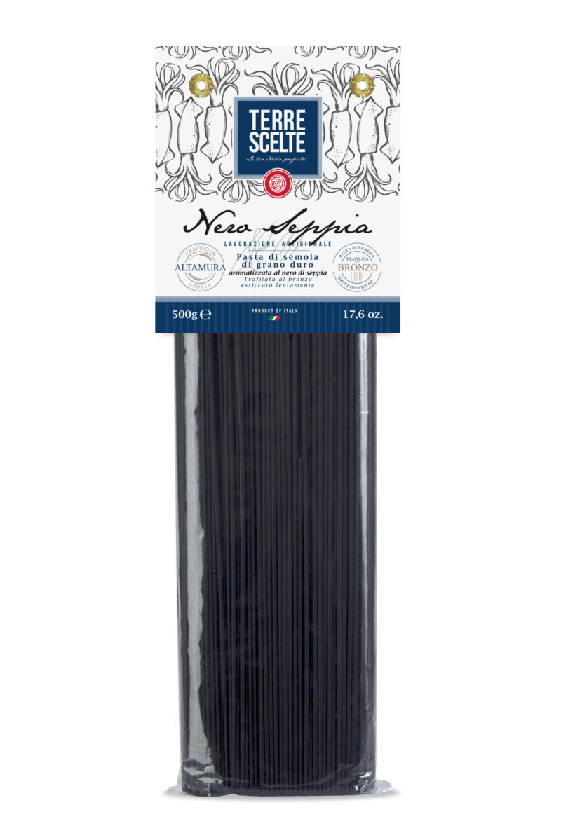 Spaghetti al nero di seppia-Aromatizzate-Pasta artigianale